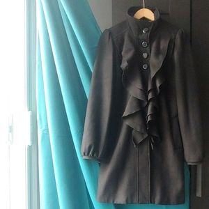 RW & Co Ruffle Wool Coat